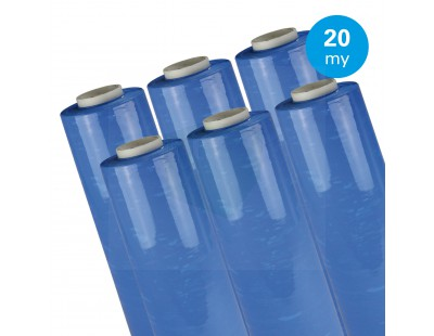 Hand stretch film Blue 20µ / 50cm / 300m Stretch film rolls