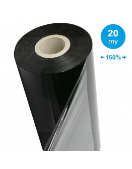Machine stretch film 150% Standard black 20µm / 50cm / 1.700m