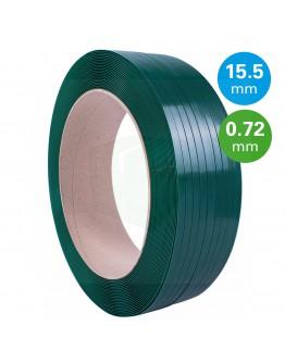 PET Band groen 15,5mm/0,72mm/1750m Gewafeld